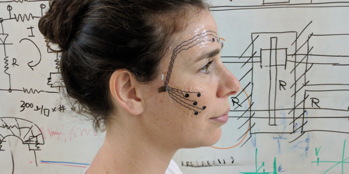 Skin electrodes for measuring emotional affect